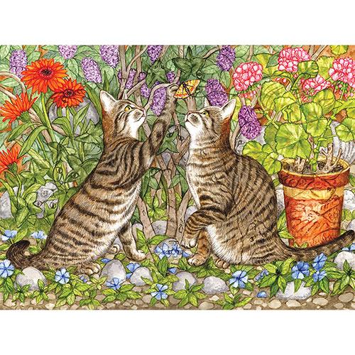 Twelve Cats Hidden 300 Large Piece Jigsaw Puzzle
