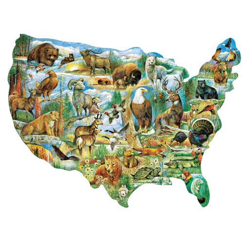 American Wildlife 300 Large Piece Shaped Jigsaw Puzzle