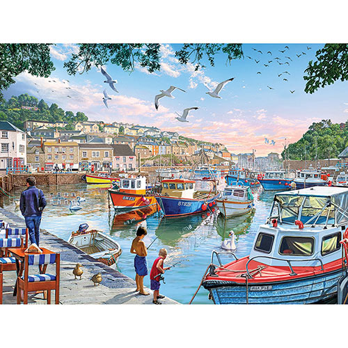 Harbor Boats 500 Piece Jigsaw Puzzle