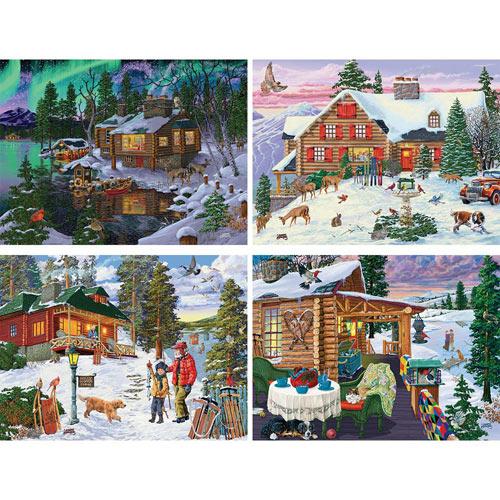 Set of 4: Joseph Burgess 300 Large Piece Jigsaw Puzzles