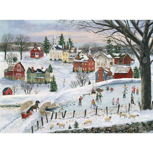 The Red Sleigh 1000 Piece Jigsaw Puzzle