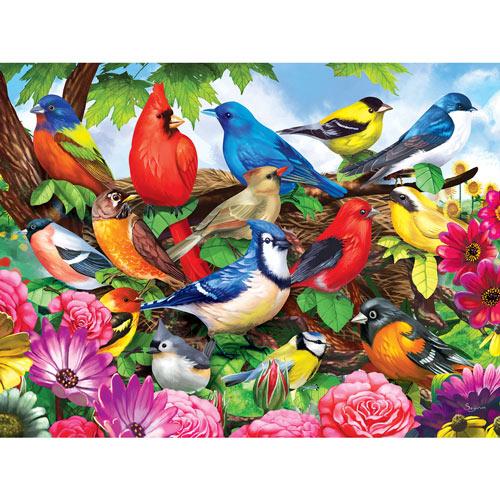 Friendly Birds 300 Large Piece Jigsaw Puzzle