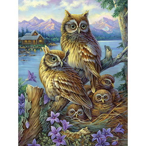 Owls In The Wilderness 1000 Piece Jigsaw Puzzle