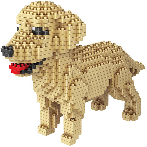 Dog Breed 3-D Block Puzzle- Golden Retriever