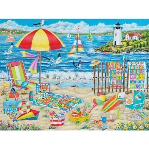 Quilts At The Beach 300 Large Piece Jigsaw Puzzle