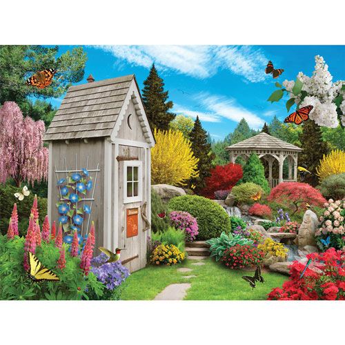 Out In The Garden 1000 Piece Jigsaw Puzzle