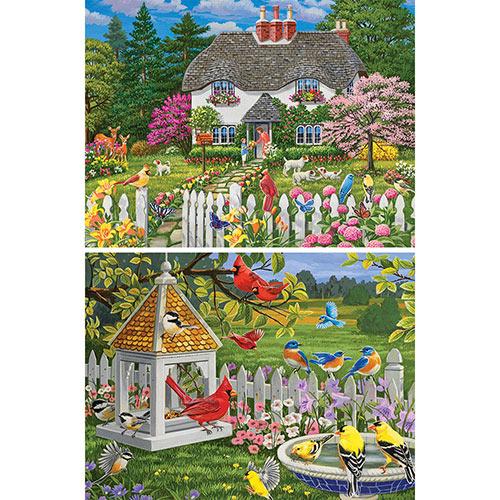 Set of 2: William Vanderdasson 300 Large Piece Jigsaw Puzzles