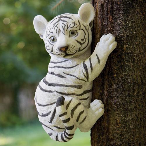 Tiger Cub Up A Tree