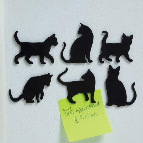 Cat Silhouette Magnet Set