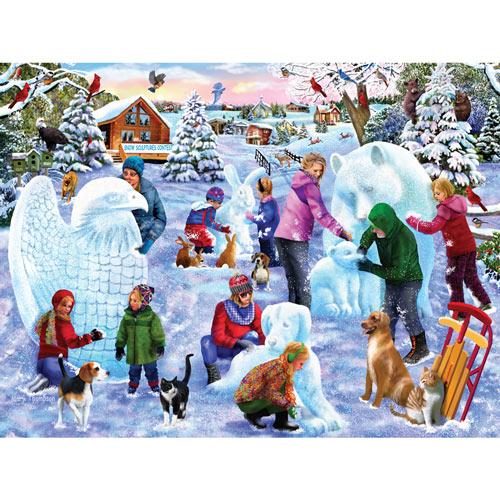 Snow Sculpture Contest 300 Large Piece Jigsaw Puzzle