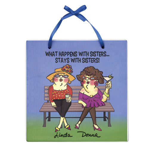 Personalized Sisters Plaque