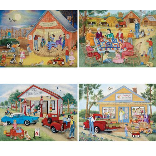 Friendly Folk 1000 Piece 4-in-1 Multi-Pack Puzzle Set