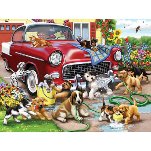 Car Wash Chaos 300 Large Piece Jigsaw Puzzle