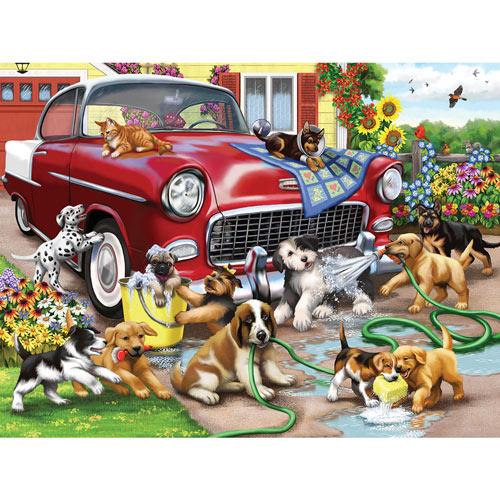 Car Wash Chaos 500 Piece Jigsaw Puzzle