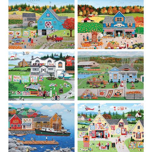 Set of 6: Wilfrido Limvalencia 300 Large Piece Jigsaw Puzzles