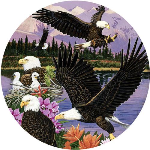 Eagle Sanctuary 300 Large Piece Round Jigsaw Puzzle