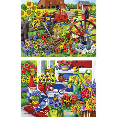 Set of 2: Nancy Wernersbach 300 Large Piece Jigsaw Puzzle