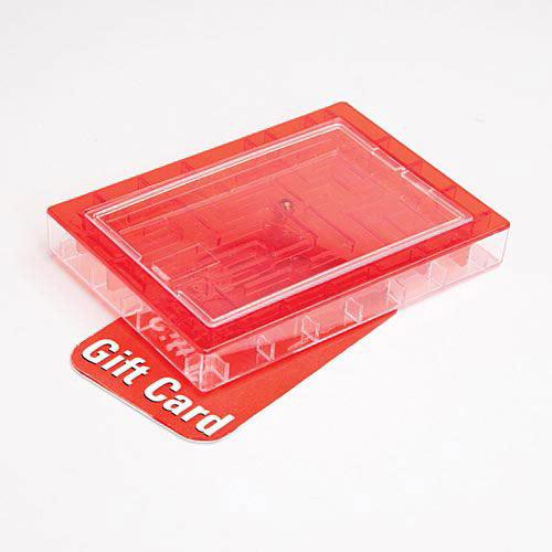 Gift Card Maze Red Money Holder