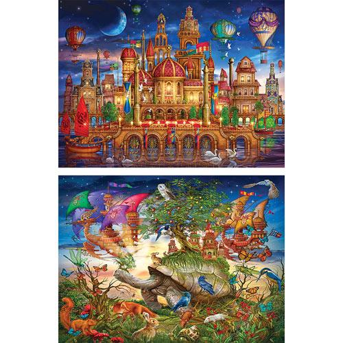 Set of 2: Ciro Marchetti 1000 Piece Jigsaw Puzzles
