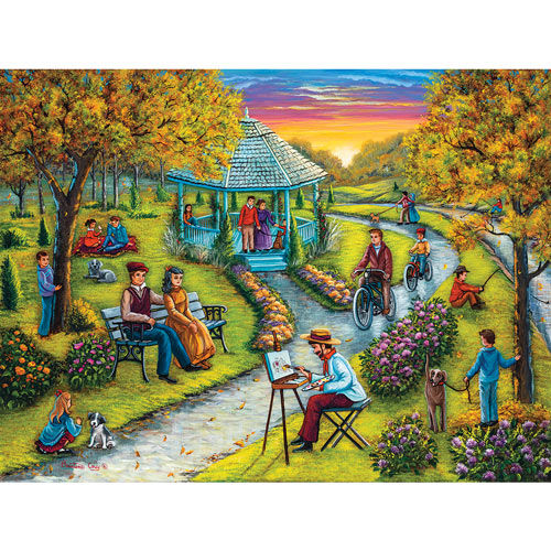 Autumn In The Park 300 Large Piece Jigsaw Puzzle