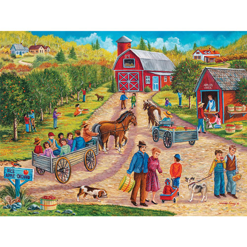 Vic's Apple Orchard 500 Piece Jigsaw Puzzle