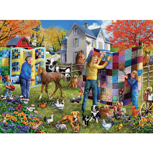Country Quilt 300 Large Piece Jigsaw Puzzle