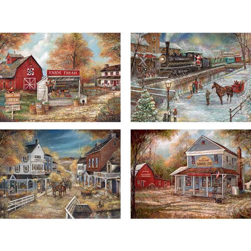 Set of 4: Ruane Manning 300 Large Piece Jigsaw Puzzles