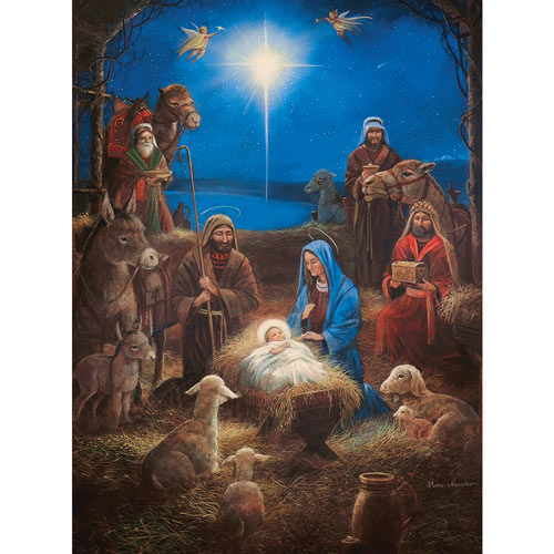 Star Over The Manger 300 Large Piece Jigsaw Puzzle