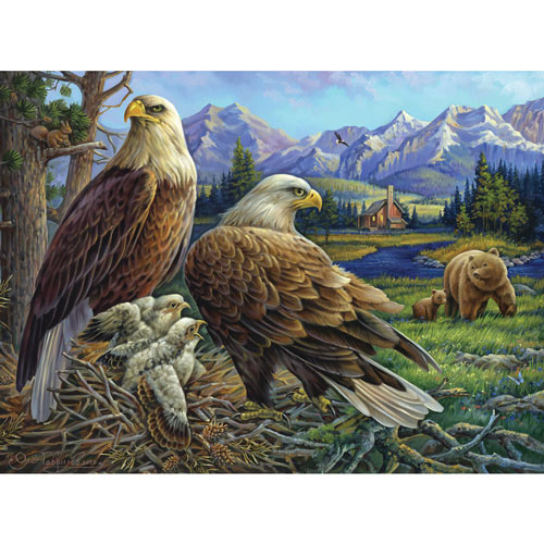 Eagles At The Nest 300 Large Piece Jigsaw Puzzle