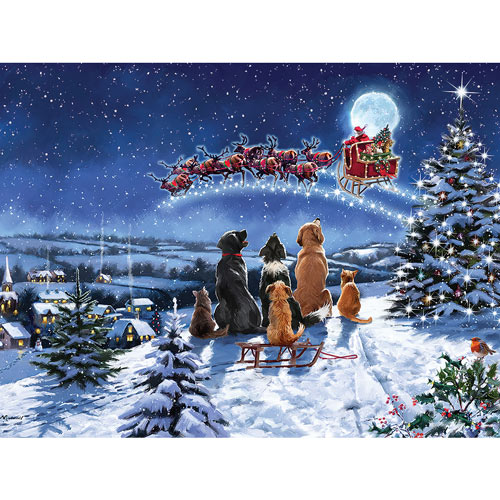 Midnight Meeting 300 Large Piece Jigsaw Puzzle
