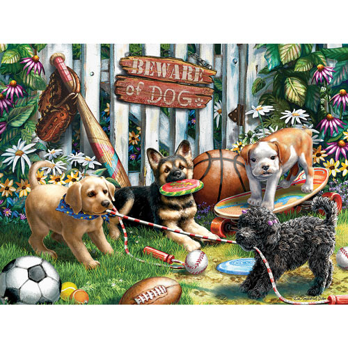 Pups And Sports 500 Piece Jigsaw Puzzle