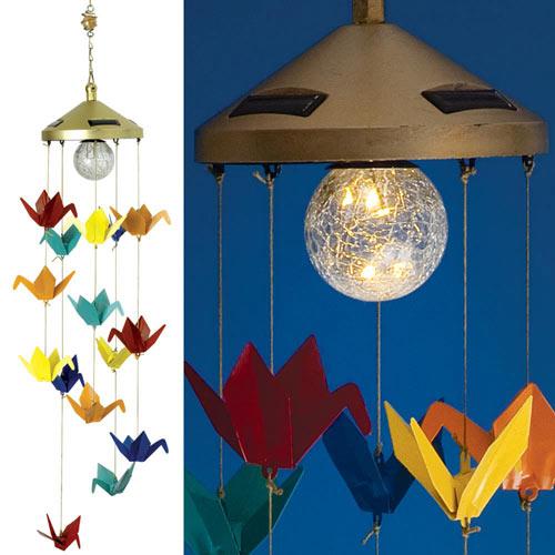 Solar Origami Crane Chimes