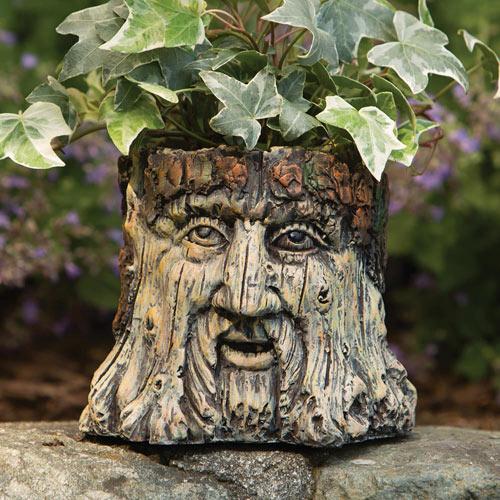 Tree Face Garden Planter Statue