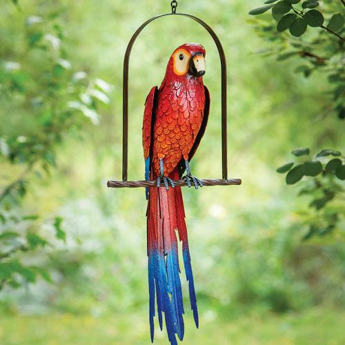 Swinging Parrot Sculpture