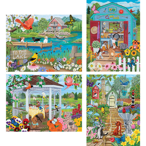 Set of 4: Kathy Bambeck 1000 Piece Jigsaw Puzzles