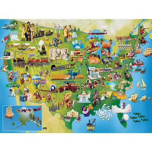U.S. History Map 500 Piece Jigsaw Puzzle
