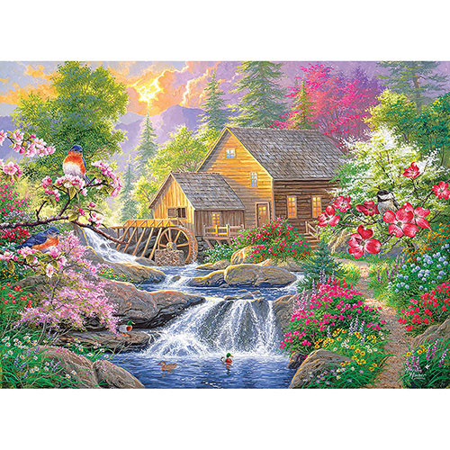 Summertime Mill 500 Piece Giant Jigsaw Puzzle