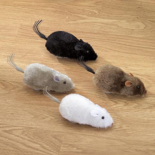 Set of 4: Wind Up Racing Mice