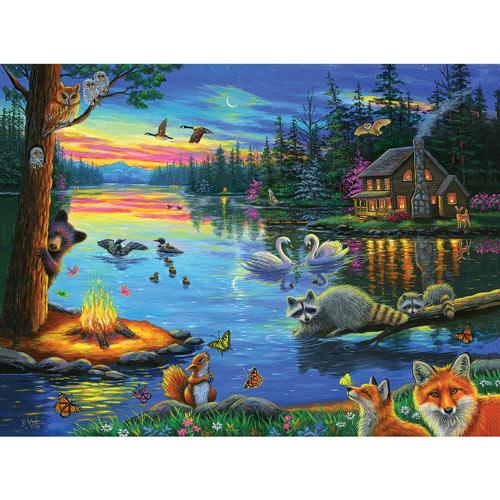 Lakeside Evening 300 Large Piece Jigsaw Puzzle