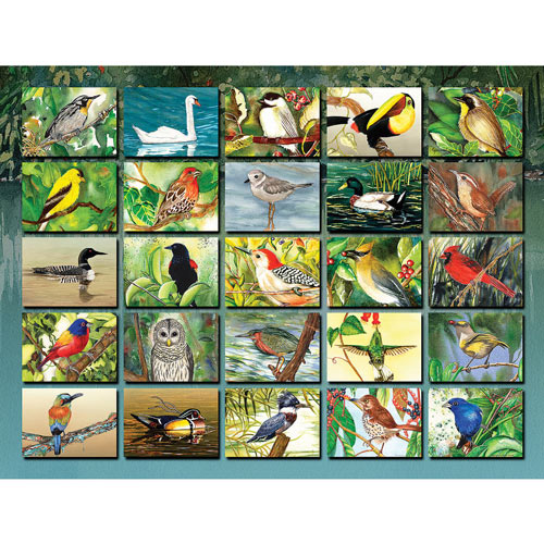Bountiful Birds 500 Piece Jigsaw Puzzle