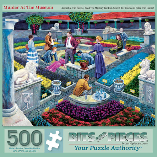 Murder at the Museum 500 Piece Jigsaw Puzzle