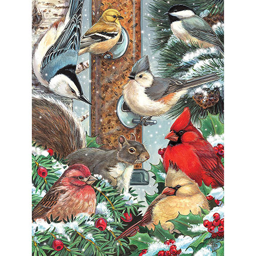 Winter Bird Friends 500 Piece Jigsaw Puzzle