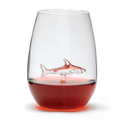 Shark Stemless Wine Glass