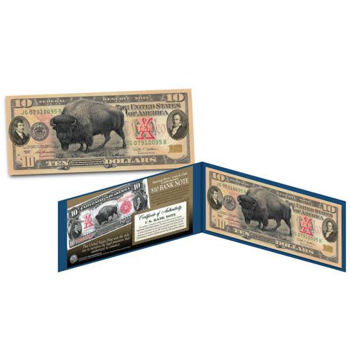 Bison $10 Bill