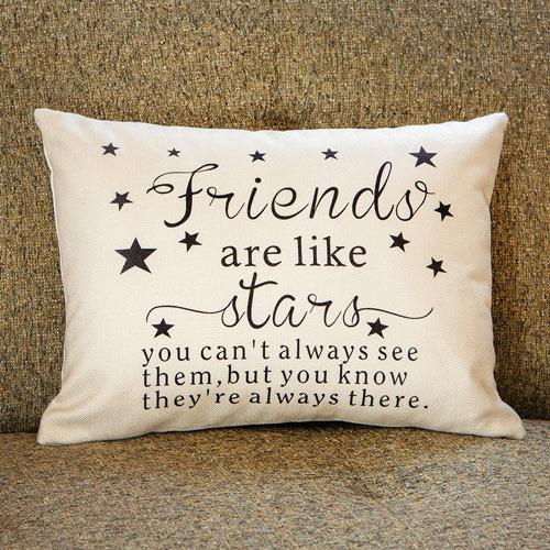 Good Friends Are Like Stars Accent Pillow