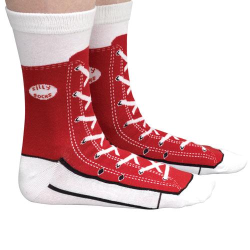 Silly Socks - Red Sneaker