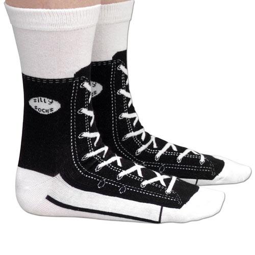 Silly Socks - Black Sneaker