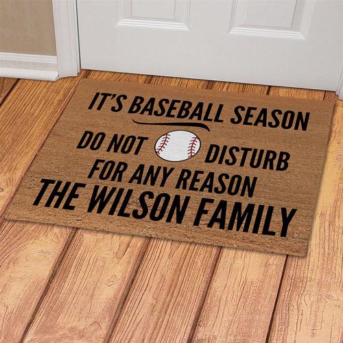 Personalized Baseball Doormat