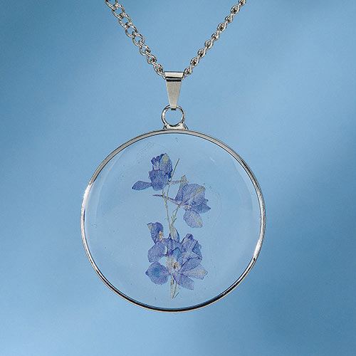 Birth Flower Necklace - February (Iris)