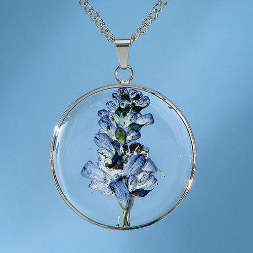 Birth Flower Necklace - July (Salvia)